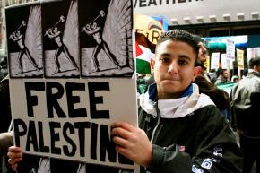 Protesting in support of Palestinians