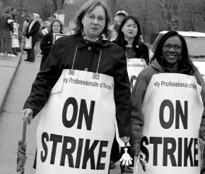 NEIU faculty walk the picket line in 2004