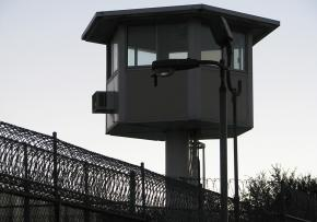 Prison guard tower in California