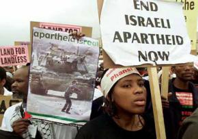 Protesting against Israel's attack on Gaza in Durban, South Africa