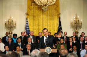 Barack Obama addresses the White House summit on health care