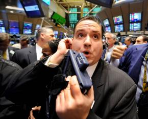 The New York Stock Exchange trading floor, where stocks have continued to plunge this week