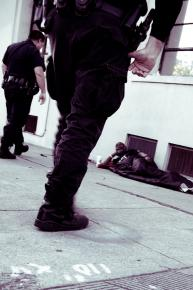 Police harass a homeless man in Berkeley, CA