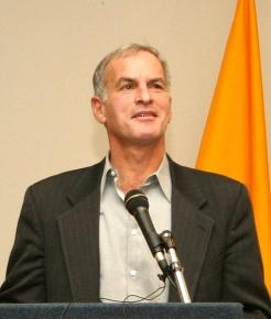 Norman Finkelstein speaking at Suffolk University in Massachusetts