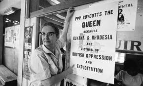 Janet Jagan in February 1966, just weeks before Guyana won independence