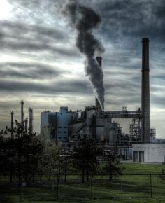 A coal-burning power plant near Rochester, N.Y.
