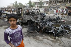At least 41 people were killed when several car bombs detonated in Baghdad's Sadr City on April 29, 2009.