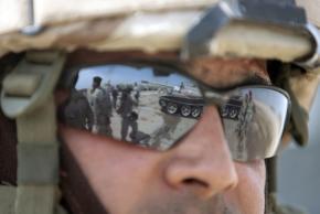 A U.S. soldier in Iraq