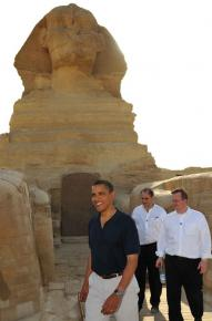 President Obama visited well-known tourist spots during his trip to Egypt