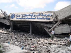 The American School in Gaza was destroyed during Israel's onslaught