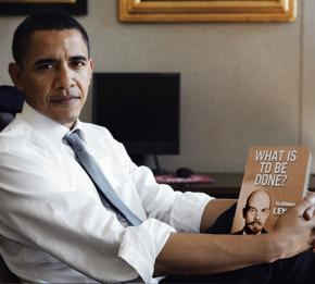 Barack Obama may be getting a copy of Lenin's What is to be done?