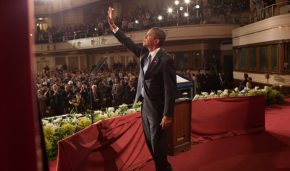 Barack Obama speaks at Cairo University during his trip to the Middle East