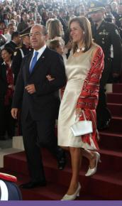 Mexican President Felipe Calderón with his wife