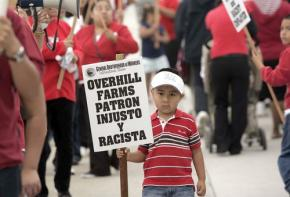 Protesting against racism and injustice at Overhill Farms