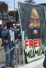 Protesting in support of Mumia Abu-Jamal in San Francisco