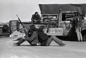 AIM members defend a blockade during the occupation of Wounded Knee