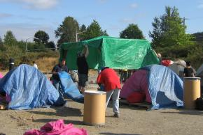 Residents of Nickelsville take down their camp after state officials threatened to evict them