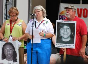 A vigil for victims of anti-LGBT violence. Will tougher sentencing deter similar hate crimes?