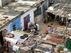 A shanty town in Ghana