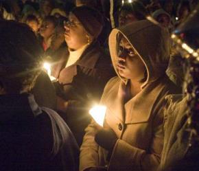 Hundreds of people attended a vigil for Kiwane Carrington on October 14