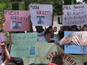 Protesting against the coup in Honduras