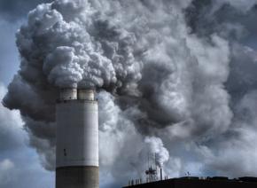 A coal-burning power plant near Kenosha, Wisconsin