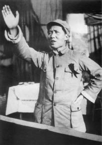 Mao Zedong giving a speech in 1939