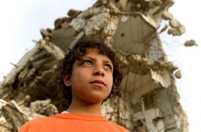 A young boy in Kahn Yunis, Gaza