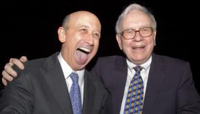 Goldman Sachs CEO Lloyd Blankfein and billionaire Warren Buffett are among the few people laughing during the current crisis