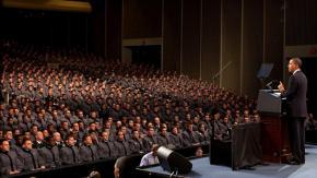 President Barack Obama speaks on Afghanistan at West Point