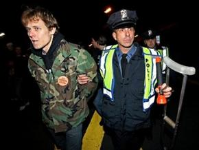 IVAW member Matthis Chiroux is arrested outside West Point where Barack Obama spoke on Afghanistan