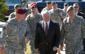 Defense Secretary Robert Gates with senior military officials