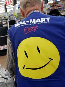 "A Wal-Mart ""associate"" at work"