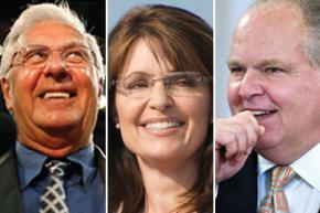 Tea Party stars Dick Armey, Sarah Palin and Rush Limbaugh