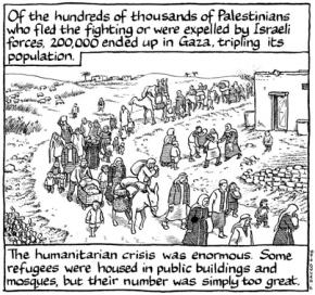 A frame from the graphic novel Footnotes in Gaza