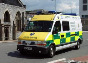An ambulance from Britain's National Health Service