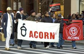 ACORN activists protesting police violence in New York City