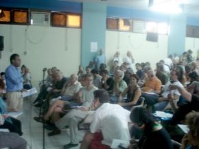 A meeting of the World Social Forum 2009 in Belém, Brazil