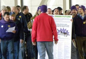 Members of SEIU Local 26 march in Minneapolis to bring attention to their cause