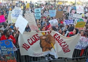 Tens of thousands gathered outside San Francisco's Civic Center at the end of the Day of Action