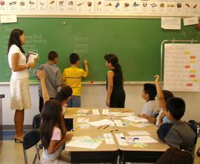 A 3rd grade classroom in the Bay Area