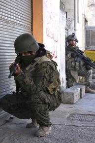 U.S. troops on patrol in Sadr City, Baghdad