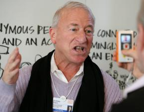 SEIU President Andy Stern is interviewed while at the World Economic Forum in Davos, Switzerland