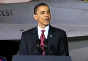 President Obama gives a speech unveiling plans to expand offshore oil drilling