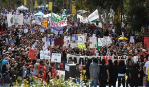 Students and workers rallied against education cuts in San Diego on the March 4 day of action