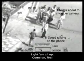 The leaked video shows a U.S. military helicopter's sights set on two Reuters employees among a group of Iraqis in Baghdad