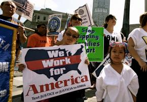 Thousands demonstrated on May Day for immigrant rights in New York City