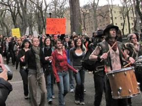 Portland students protest budget cuts and privatization on March 4