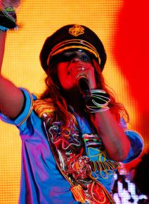 M.I.A. performing at Coachella in 2009