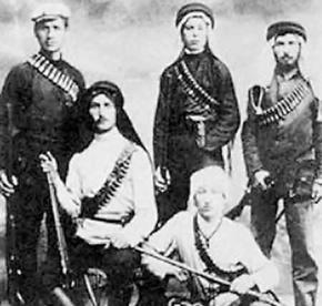Members of the Zionist militia the Irgun during the British mandate era before 1948